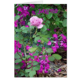 Tarjeta Color de rosa y floral, amistad tan verdad