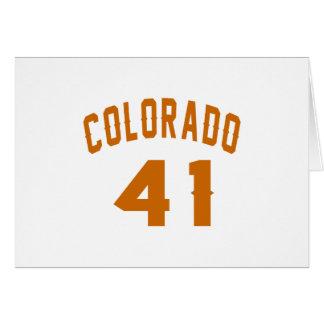 Tarjeta Colorado 41 diseños del cumpleaños