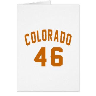 Tarjeta Colorado 46 diseños del cumpleaños
