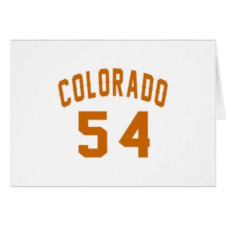 Tarjeta Colorado 54 diseños del cumpleaños
