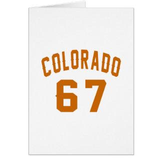 Tarjeta Colorado 67 diseños del cumpleaños