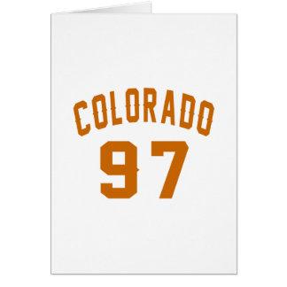 Tarjeta Colorado 97 diseños del cumpleaños