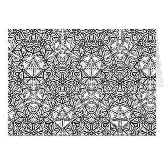 Tarjeta Colorante adulto geométrico del modelo floral de