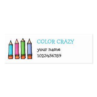 Tarjeta coloreada de la pequeña empresa de los láp tarjetas de negocios