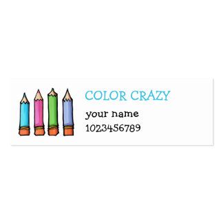 Tarjeta coloreada de la pequeña empresa de los láp tarjetas de visita mini