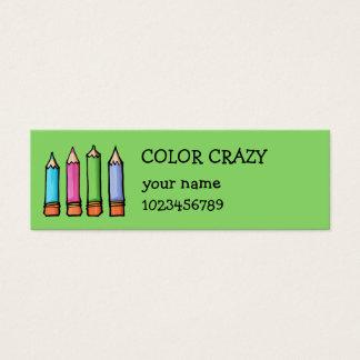 Tarjeta coloreada de la pequeña empresa del verde