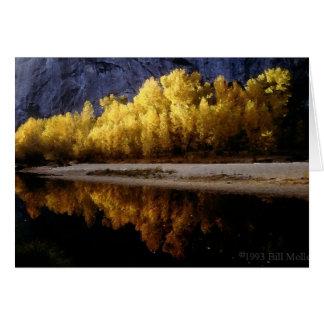 Tarjeta Colores de la caída de Yosemite