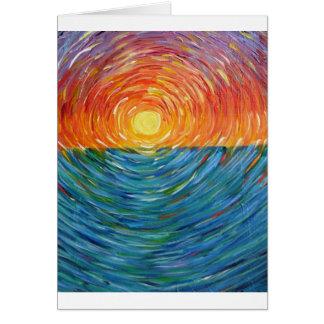 Tarjeta colores de la puesta del sol