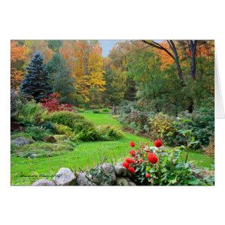 Tarjeta Colores del alcohol: Jardín de New Hampshire