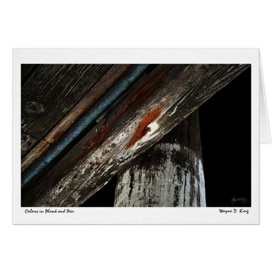 Tarjeta Colores en tablón y embarcadero