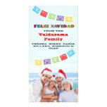 Tarjeta colorida de la foto de Feliz Navidad con l Tarjetas Fotográficas