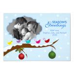 Tarjeta colorida de la foto del día de fiesta del invitación
