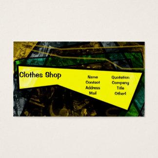 Tarjeta colorida de la tienda de ropa del verano