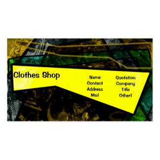 Tarjeta colorida de la tienda de ropa del verano tarjetas de visita