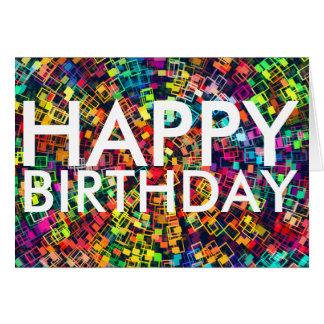 Tarjeta colorida del feliz cumpleaños
