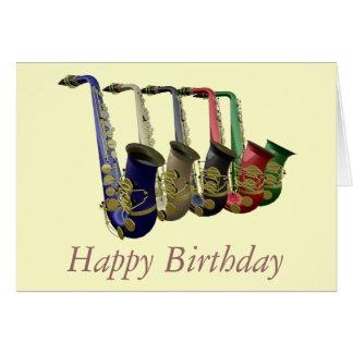 Tarjeta colorida del feliz cumpleaños de cinco