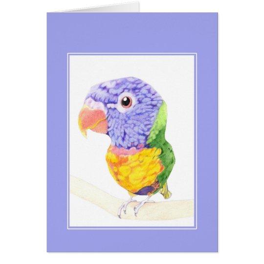 Tarjeta colorida del pájaro