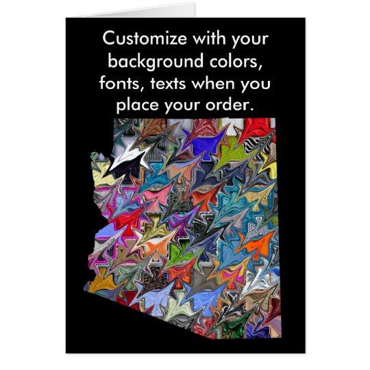 Tarjeta colorida del personalizar de Arizona cómo