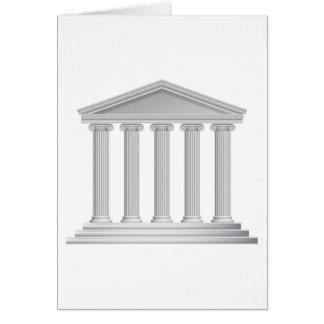 Tarjeta Columnas griegas o romanas del templo