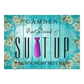 Tarjeta Coma la bebida y púrpura de Suitup usted será mi