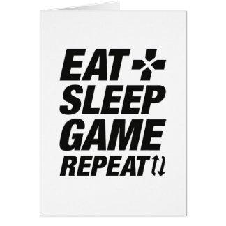Tarjeta Coma la repetición del juego del sueño