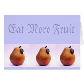 Tarjeta Coma más fruta