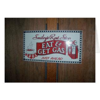 Tarjeta Coma y consiga la parada del resto del gas