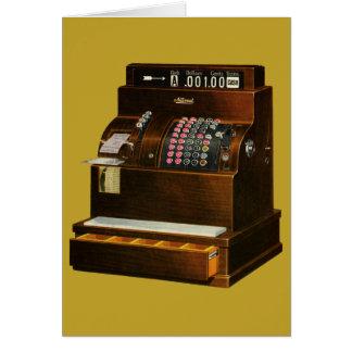 Tarjeta Comercio al por menor del vintage, caja