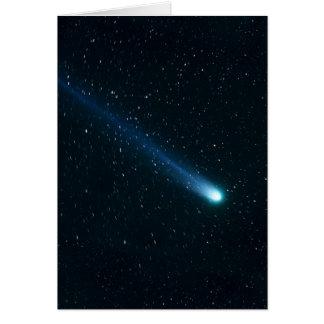 Tarjeta Cometa en cielo nocturno