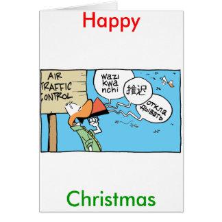 Tarjeta cómica de las felices Navidad del