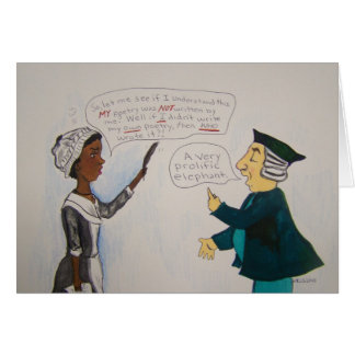 Tarjeta cómica de Phillis Wheatley