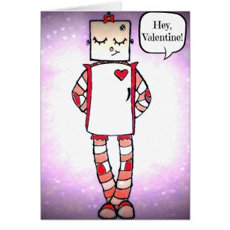 Tarjeta cómica linda del el día de San Valentín