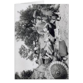 Tarjeta Comida campestre de Edwardian de la fotografía del