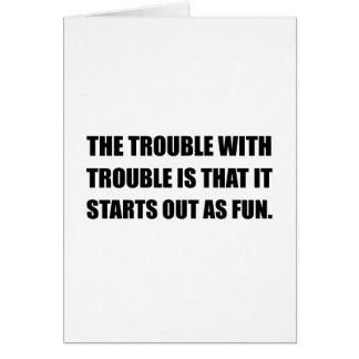 Tarjeta Comienzo del problema como diversión