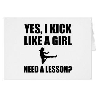 Tarjeta Como artes marciales de un chica