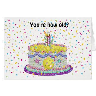 Tarjeta ¿Cómo viejo en los años de Pickleball?