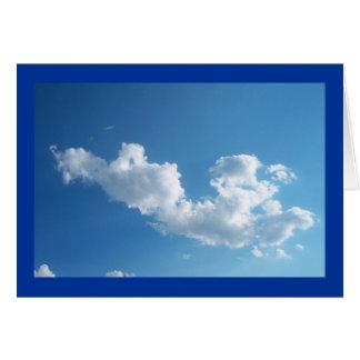 Tarjeta compasiva de la nube