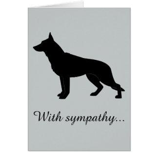 Tarjeta Con condolencia: Pérdida de su perro de pastor