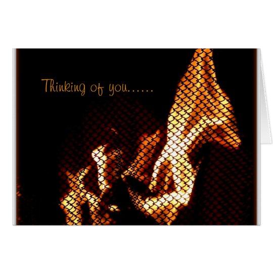 Tarjeta con las llamas interesantes
