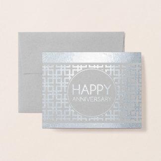 Tarjeta Con Relieve Metalizado Aniversario feliz CinderStripe