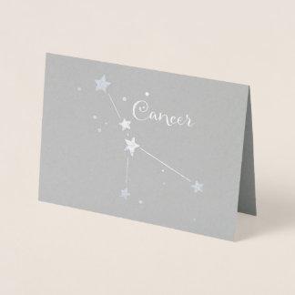 Tarjeta Con Relieve Metalizado Constelación del zodiaco del cáncer del efecto