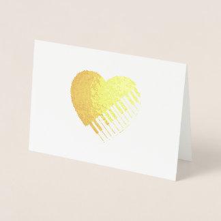 Tarjeta Con Relieve Metalizado Corazón del piano