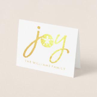 Tarjeta Con Relieve Metalizado Dólar de arena de oro de la alegría de las Felices