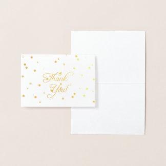 Tarjeta Con Relieve Metalizado El efecto metalizado de oro elegante le agradece