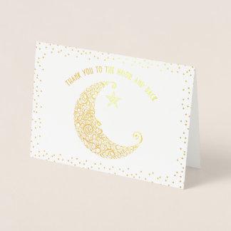 Tarjeta Con Relieve Metalizado El oro o el efecto metalizado de plata le agradece