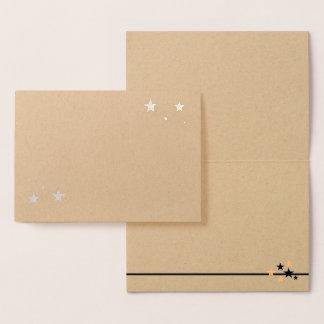 Tarjeta Con Relieve Metalizado Elija su espacio en blanco de las estrellas del