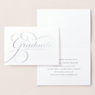 Tarjeta Con Relieve Metalizado Escritura real graduada elegante del efecto