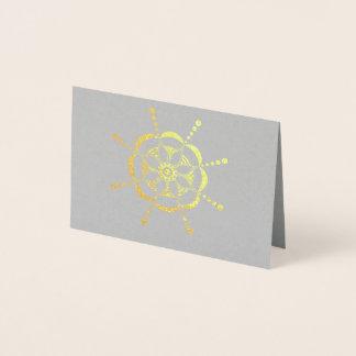Tarjeta Con Relieve Metalizado Floral modelada