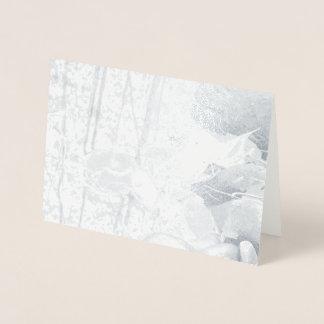 Tarjeta Con Relieve Metalizado Hojas de otoño