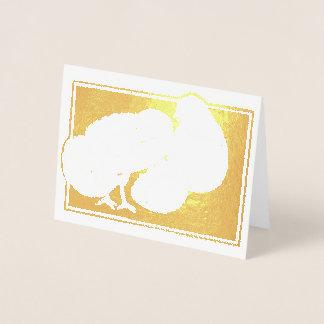 Tarjeta Con Relieve Metalizado Huevos felices lindos de la trama Pascua